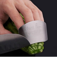 1 PCS Free Shipping Stainless Steel Finger Hand Protector Guard Design Safe Slice Knife Kitchen Cooking Tools