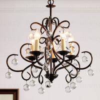 E14 5-light Retro American country chandeliers  Living Room restaurant lights 52*52*47 cm
