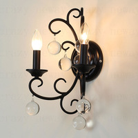 E14 2-light Retro American country wall light  Living Room restaurant lights 28*18*40 cm