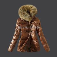 Ladies Coats High Quality Fur Collar Brand Down Jacket Women Down Coat Winter Jacket Black Brown Khaki Short Lady Down Parka