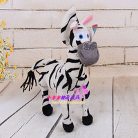 38 cm lovely animal zebra plush toy cartoon Madagascar zebra doll, Christmas gift b4685