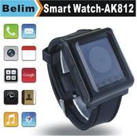 "Smart Watch Phone AK812 with 1.44"" Touch Screen QuadBand GSM MP3/MP4 Bluetooth Watch Support GPRS WAP"