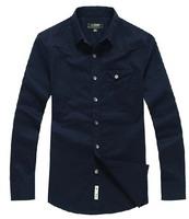 Free shipping!!! 2014 Hot Spring Autumn models brand men cotton long sleeve casual shirt high quality classic mens tops shirts