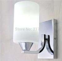 2PCS.indoor lighting modern glass bedroom wall sconce wall light fixture E27 lamp holder NEW