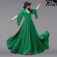 2014 big bottom type slim chiffon plus size clothing fairy skirt full dress mopping the floor one-piece dress