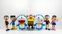 2014  Doraemon  Action Figures 7PCS/Set  PVC 10CM Lovely  Cartoon Doraemon Collections Toys Best Gift Free Shipping