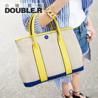 Macaron shell bag one shoulder cross-body small bags 2014 women's handbag vintage canvas bag