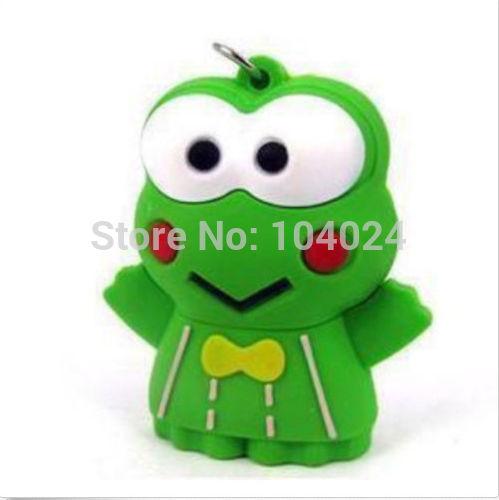 Free shipping USB pen drive Green Frog Prince shape flash memory 2.0 Pen memory U disk 4GB 8GB 16GB 32GB(China (Mainland))