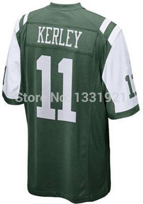 11 Jeremy Kerley Jersey Green Elite New York Stitched Football Jerseys mixed order Dropping free Shipping(China (Mainland))