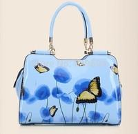 2014 new fashion handbag bag lady flower shoulder bag handbag trend in Europe and America