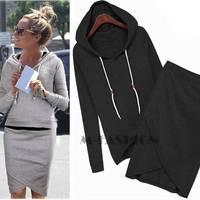 2014 Spring autumn women casual dress sweatshirt tracksuits pullovers hoodies sportswear clothing set B5 SV004932