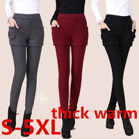 S-5XL extra plus size leggings 2014 new fashion women cotton blends thicken winter warm pants leggings with shorts free shipping