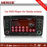 MTK 3336NCG CPU 800MHZ Dual Core running speed faster  7''  Car DVD GPS navigation player for Skoda octavia 2012  free map