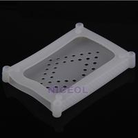 NI5L Silicone 2.5 SATA IDE HDD Hard Disk Drive Skin Cover Case Protector White