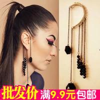 Fashion punk fashion noble gem tassel female ear hook single earrings