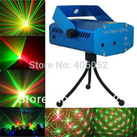 wholesale 110-240v moving blue and red mini laser stage lighting projector club KTV DJ disco family party show light