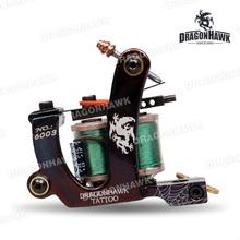 Tattoo gun Dragonhawk tattoo Machine Premium Iron 10 Wrap Shader and  Liner  WQ4878(China (Mainland))