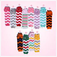 Chevron rainbow Cotton leg warmer with ruffles ,Baby and Toddler  leg warmer Arm warmer