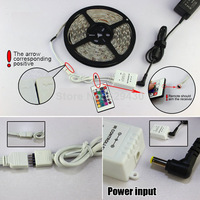 DC12V IR Remote controler led 24key rgb controller for led strip 5050/3528