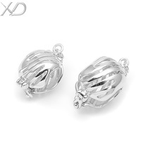 XD 925 silver hollow classic jewelry pendant clasp accessory 925 sterling silver clasp hook connector for bracelet necklace S354