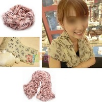 Promotion Lady Girls Women Skull Printing Cotton Blend Neck Scarf Waist Wrap Shawl Color Top Selling