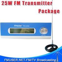 FMUSER FU-25A CZH-T251 25W FM Transmitter 0-25w Mono/Stereo adjustable Excellent sound quality +CA200 Car Sucker FM Antenna KIT