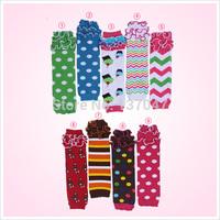 New hot sale Cotton dot leg warmer with ruffles, Baby and Toddler  leg warmer Arm warmer