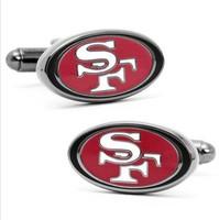 San Francisco 49ers style Cufflinks Best man Groomsmen Wedding Gift Father's Day
