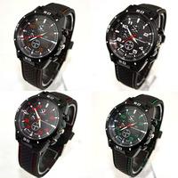 2014 New Arrival 1PC Fashion Stainless Steel Luxury Sport Analog Quartz Clock Mens Wrist Watch Free Shipping&Wholesale