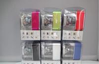 50pcs Portable Speaker Nizhi TT029 mini music speaker colorful lights Stereo FM USB Sound Box With LED Screen & Clock