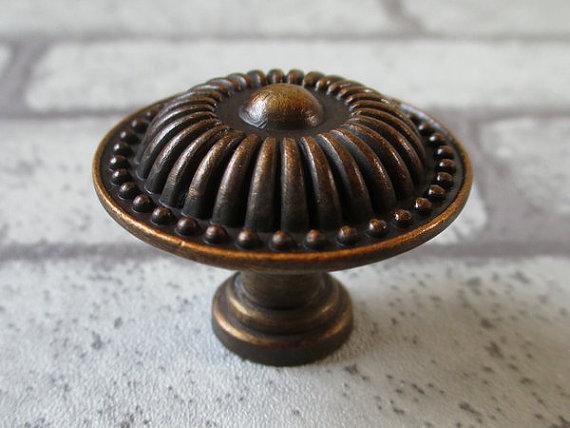 Dresser Knob Drawer Knobs Pull Handles Antique Brass