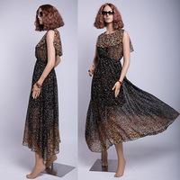 free shipping high quality women's dresses bohemian beach dresses chiffon long dresses plus size