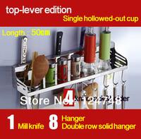 free shipping 50cm longth fashinalbe  storage holder& rack shelf in kitchen,100% 304s/s spice storage racks shelf