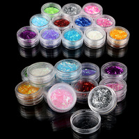 Pro Fashion 12 Color Acrylic UV Nail Art Glitter Powder Dust Polish Strip Lace Deco Tools Set Kit
