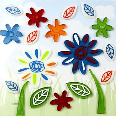 070527 flower creative fridge magnet fashion new design environmental protection flexible glue jelly stick free shipping(China (Mainland))