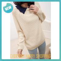 2014 blusas de malha feminina,womens long sleeve knit,winter warm pullover sweater for women