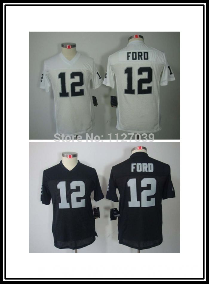 Free Shipping ! Youth Oakland #12 Jacoby Ford Kids Boys Stitched Limited Football Jersey,Embroidery and Sewing Logos(China (Mainland))