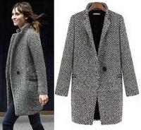 New arrival!hot sale fashion women trench turn down collar one button tartan design autumn coat Euro style woamn trench XY100