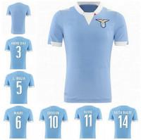 A+++ HOT 2014 Lazio Home Soccer Jerseys blue Men Thailand Quality Soccer Shirts 14/15 Cheap Men Soccer Jersey Uniforms Camisa
