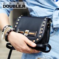 Fashion rivet mini bags 2014 women's handbag small plaid chain bag