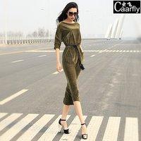 2014 summer fashion luxury elegant slit neckline plus size clothing midguts one-piece dress