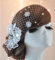 Wedding veil bridal headdress headdress Korean lace flowers Mesh flower head flower hair ornaments marriage headdress