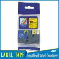 Cheap China 18mm black on yellow tz label tape tz-641