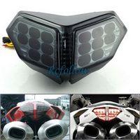 Smoke 40 LED Integrated Brake Tail Light Turn Signal Blinker For Ducati 1098