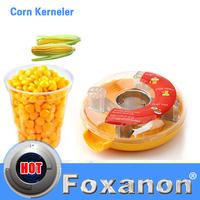 Fresh Corn Stripper Sweet Corn Threshing Device for Kitchen Novelty Helper Easy Peel One Step Corn Kerneler  Peeler Remove Corn