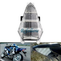 Clear 54 LED Integrated Brake Tail Light Turn Signal For Yamaha YZF R6 06-07