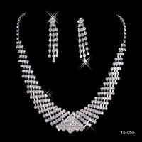 15055 Romantic Women wedding accessories Lobster clasp wedding jewelry Shinning Rhinestones bridal jewelry sets 2014 New Arrival