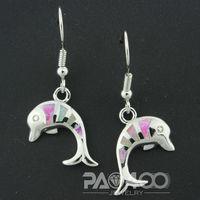 Angel Pink Fire Opal Silver Fashion  Jewelry Women Dangle Earrings OCE0097F  Wholesale & Retail