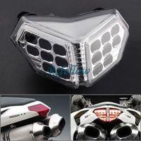 Clear 40 LED Integrated Brake Tail Light Turn Signal Blinker For Ducati 1098