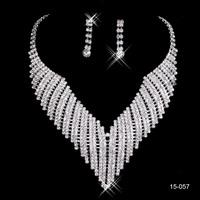 15057 Romantic Women wedding accessories Lobster clasp wedding jewelry Shinning Rhinestones bridal jewelry sets 2014 New Arrival